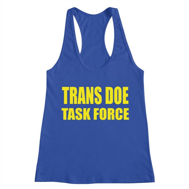 TDTF uniform Women's Racerback Tank by Trans Doe Task Force