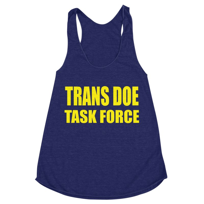 TDTF uniform Women's Racerback Triblend Tank by Trans Doe Task Force