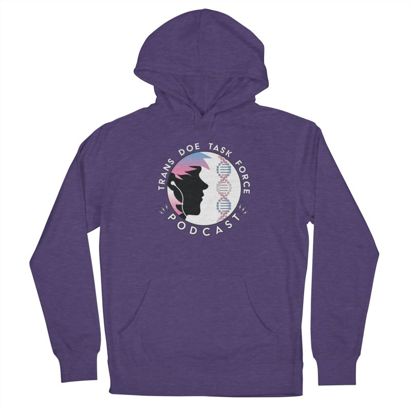 TDTF Podcast Men's French Terry Pullover Hoody by Trans Doe Task Force