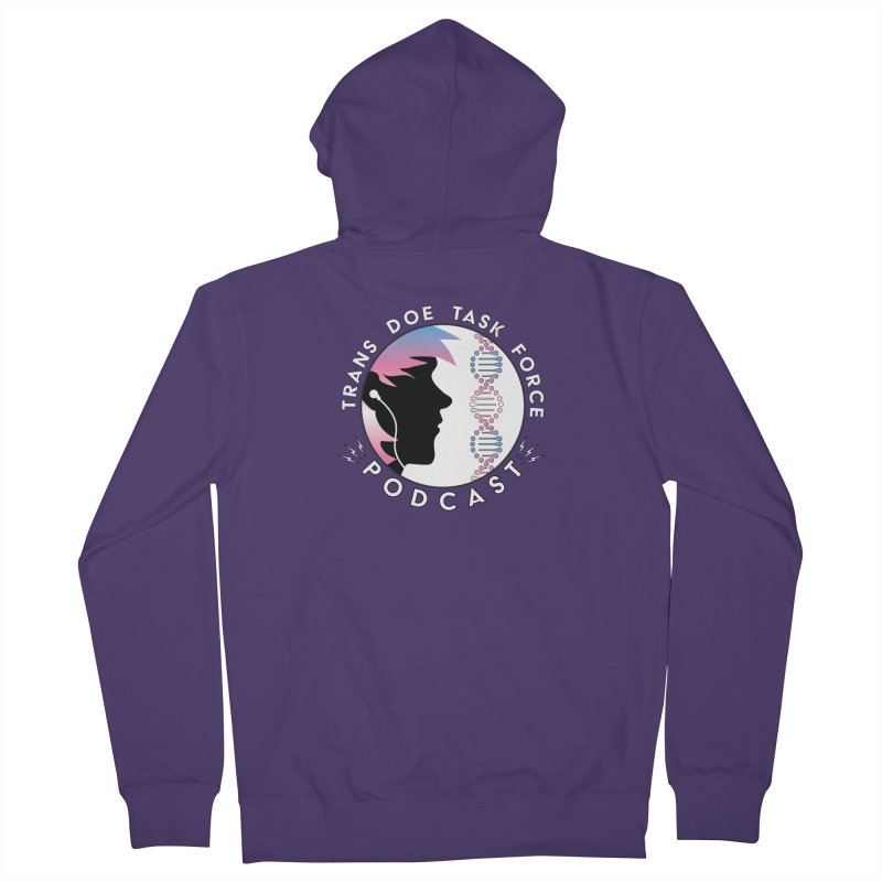 TDTF Podcast Women's French Terry Zip-Up Hoody by Trans Doe Task Force