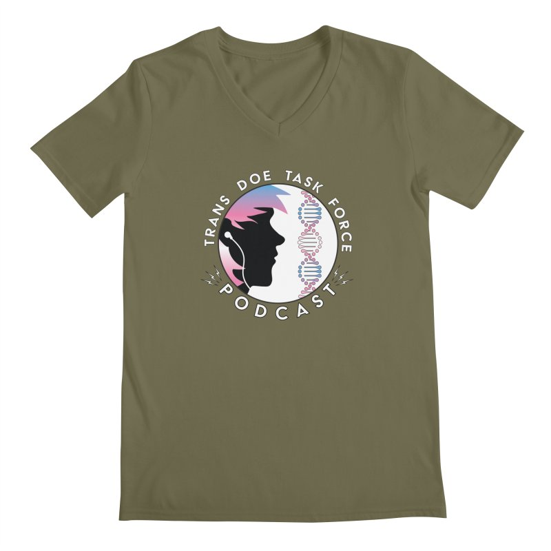 TDTF Podcast Men's Regular V-Neck by Trans Doe Task Force