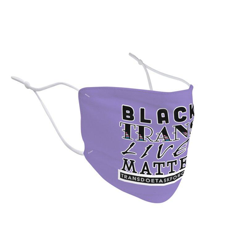 Black Trans Lives Matter Accessories Face Mask by Trans Doe Task Force