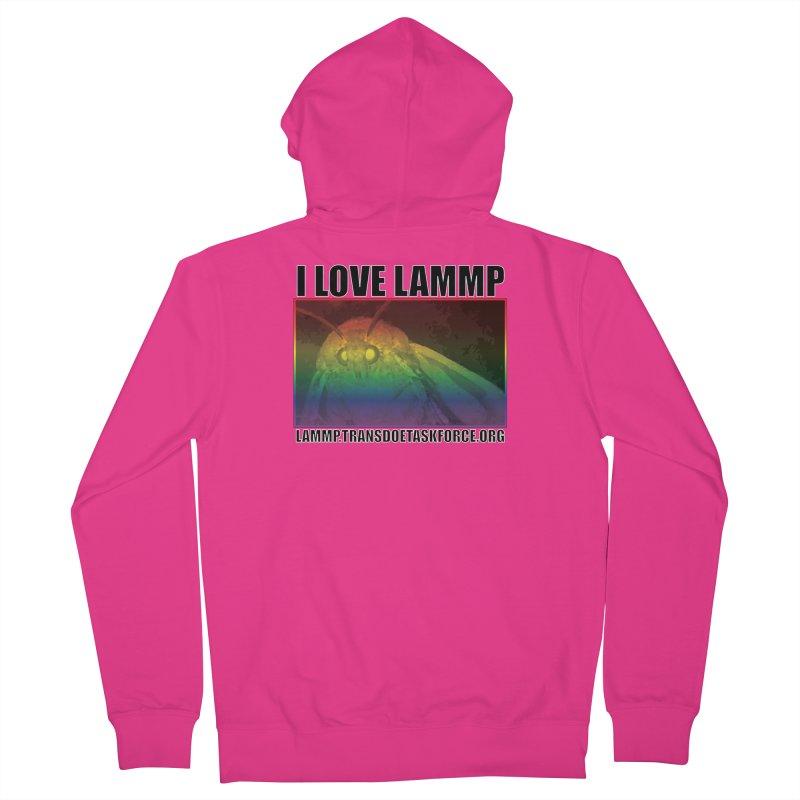 I love LAMMP Men's Zip-Up Hoody by Trans Doe Task Force