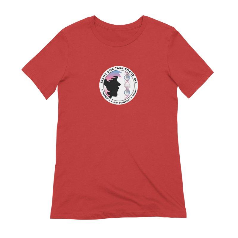 Trans Doe Task Force emblem Women's Extra Soft T-Shirt by Trans Doe Task Force