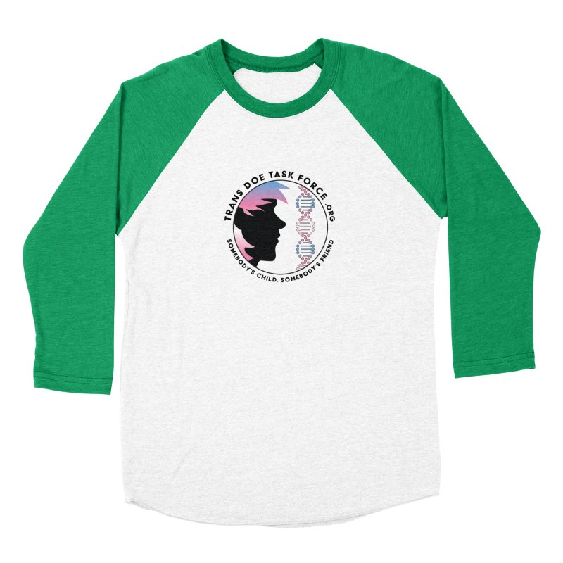 Trans Doe Task Force emblem Men's Baseball Triblend Longsleeve T-Shirt by Trans Doe Task Force