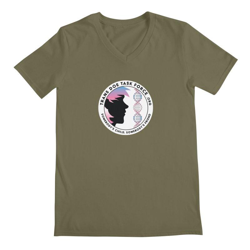 Trans Doe Task Force emblem Men's Regular V-Neck by Trans Doe Task Force