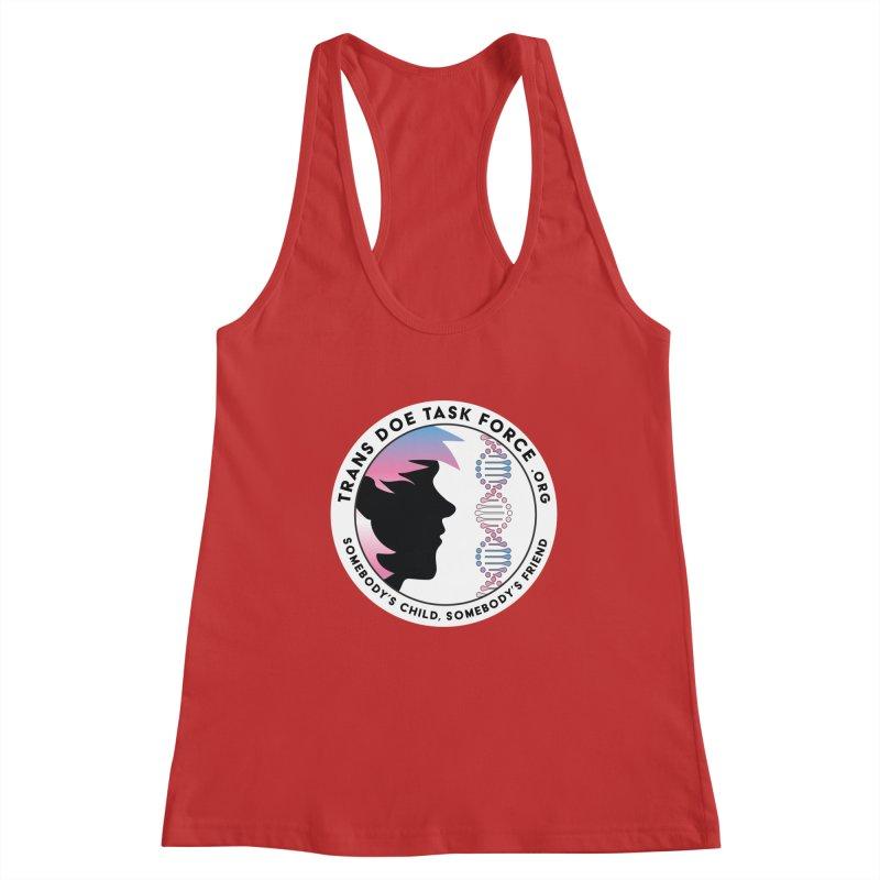 Trans Doe Task Force emblem Women's Racerback Tank by Trans Doe Task Force
