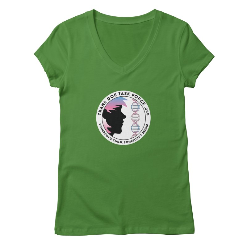 Trans Doe Task Force emblem Women's V-Neck by Trans Doe Task Force