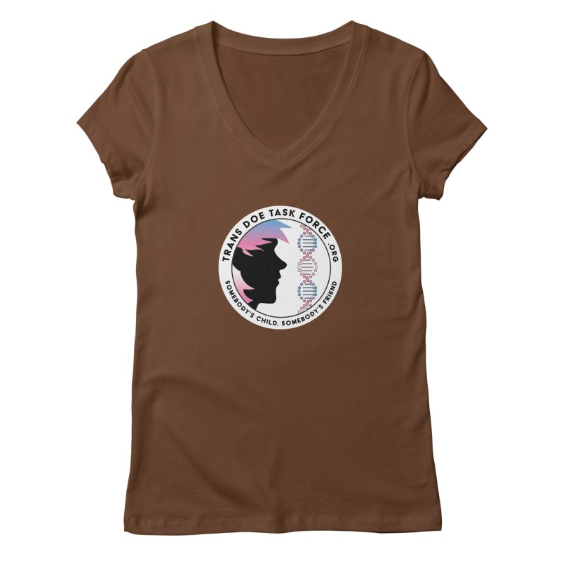 Trans Doe Task Force emblem Women's Regular V-Neck by Trans Doe Task Force