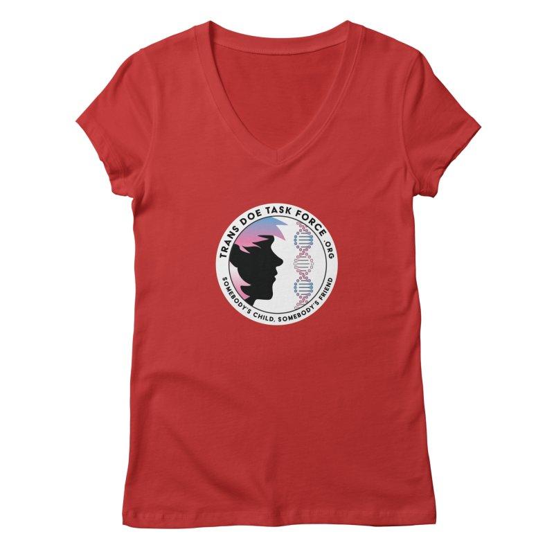 Trans Doe Task Force emblem Women's V-Neck by Trans Doe Task Force