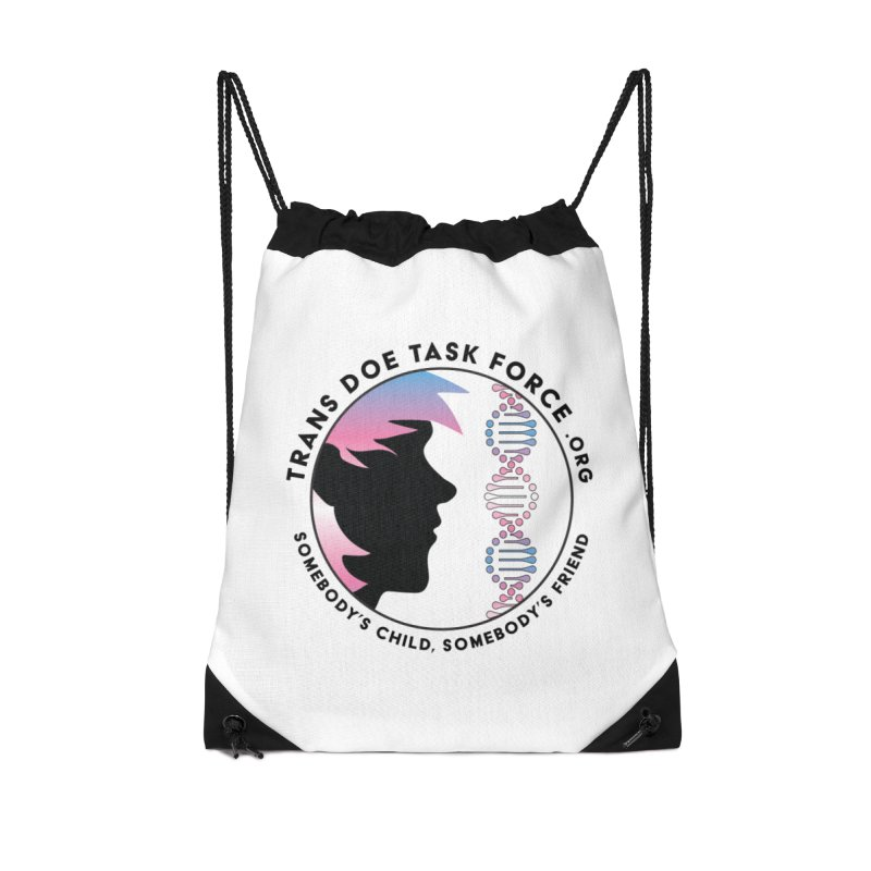 Trans Doe Task Force emblem Accessories Drawstring Bag Bag by Trans Doe Task Force