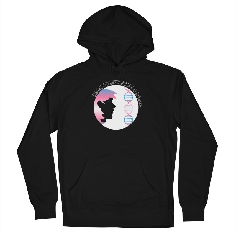 Trans Doe Task Force emblem in Men's French Terry Pullover Hoody Black by Trans Doe Task Force
