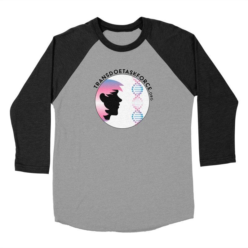 Trans Doe Task Force emblem in Men's Baseball Triblend Longsleeve T-Shirt Heather Onyx Sleeves by Trans Doe Task Force