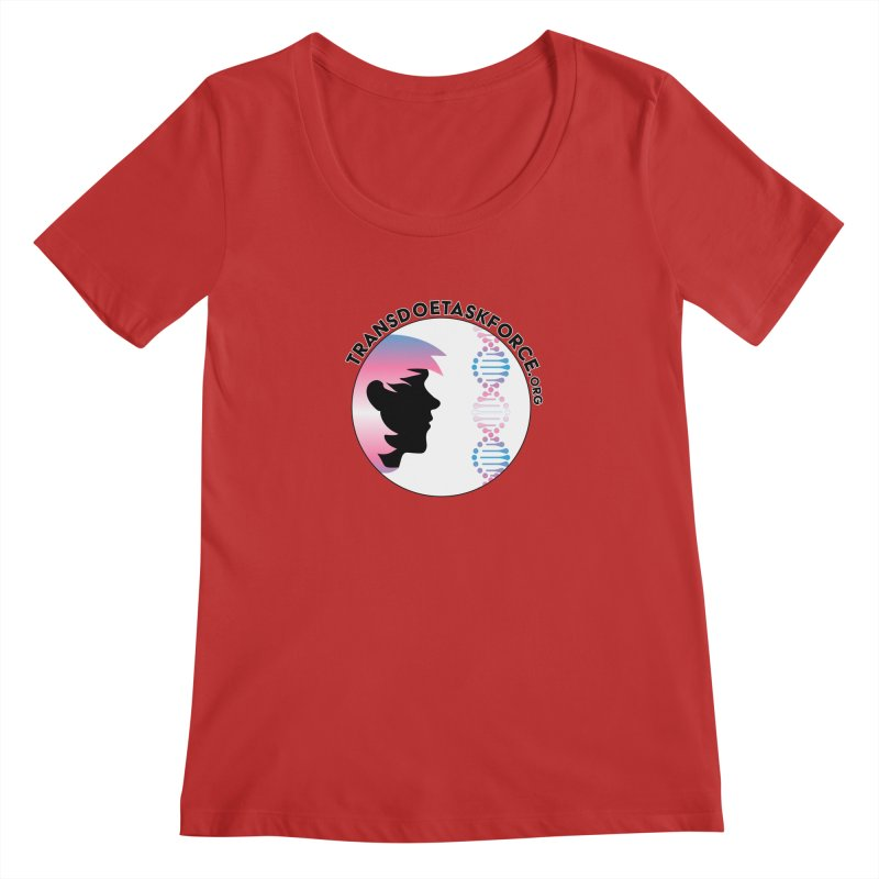 Trans Doe Task Force emblem Women's Regular Scoop Neck by Trans Doe Task Force