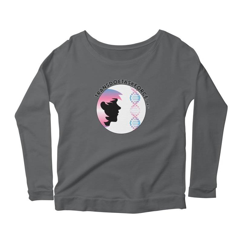 Trans Doe Task Force emblem Women's Scoop Neck Longsleeve T-Shirt by Trans Doe Task Force