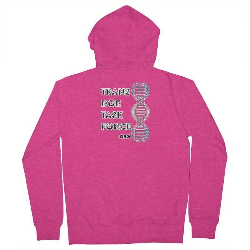 Trans Doe Task Force DNA Women's French Terry Zip-Up Hoody by Trans Doe Task Force