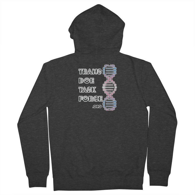 Trans Doe Task Force DNA Men's French Terry Zip-Up Hoody by Trans Doe Task Force