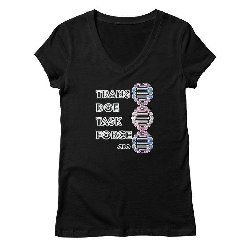 Trans Doe Task Force DNA Women's Regular V-Neck by Trans Doe Task Force