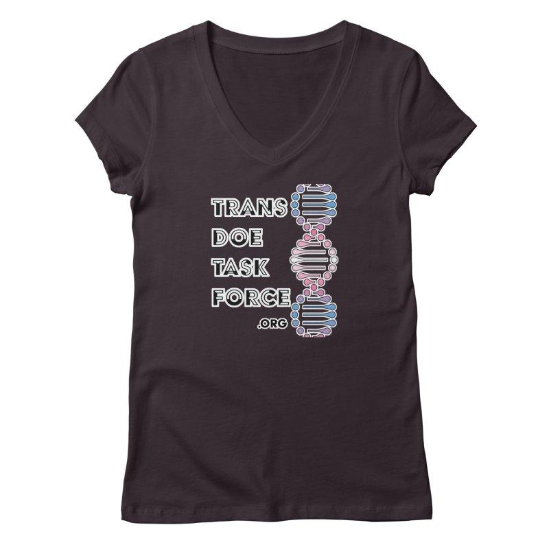 Trans Doe Task Force DNA Women's V-Neck by Trans Doe Task Force