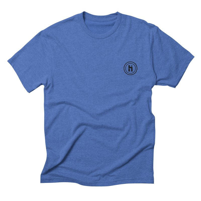 HPlus Small Men's Triblend T-shirt by Transhuman Shop