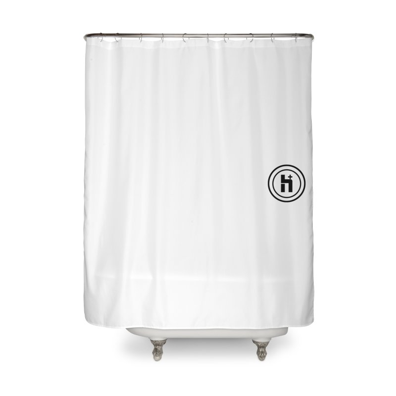 HPlus Small Home Shower Curtain by Transhuman Shop