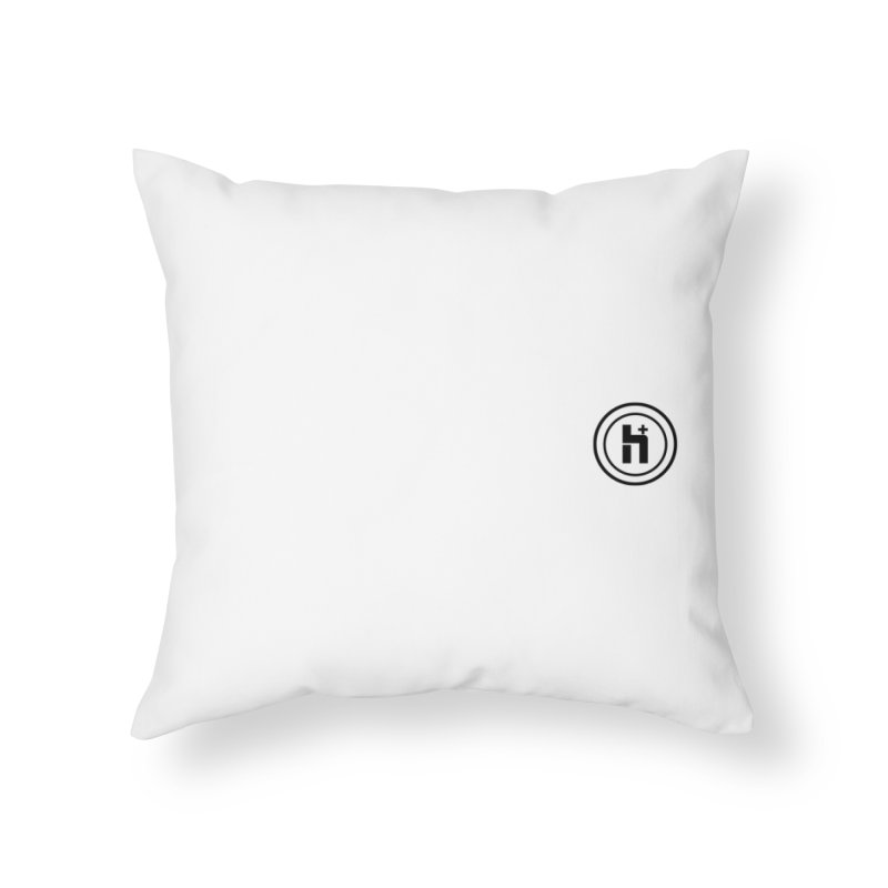 HPlus Small Home Throw Pillow by Transhuman Shop