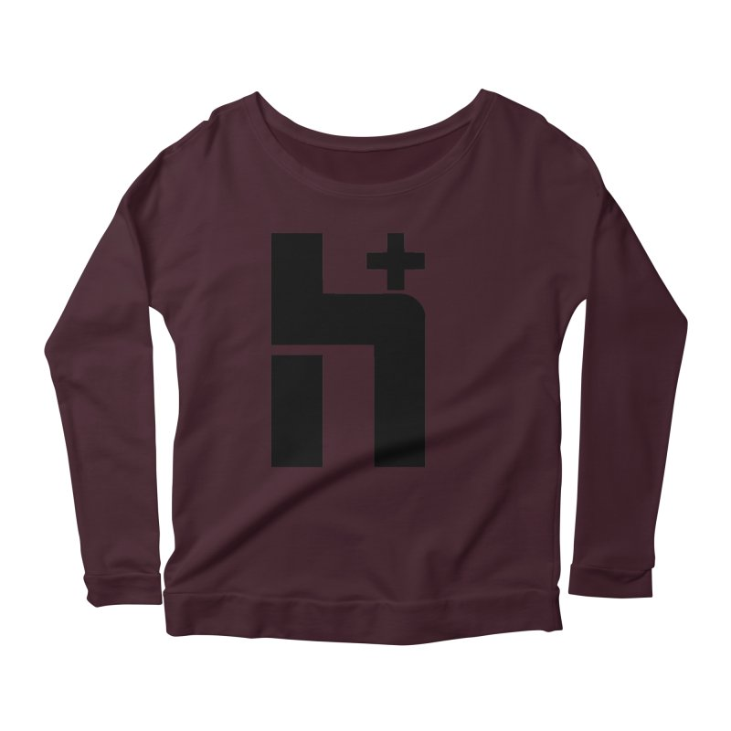 HPlus Women's Longsleeve Scoopneck  by Transhuman Shop