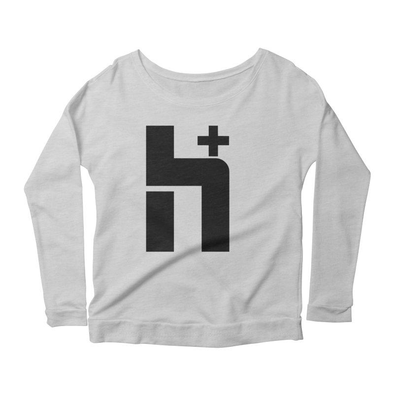 HPlus Women's Longsleeve Scoopneck  by Transhuman Shop
