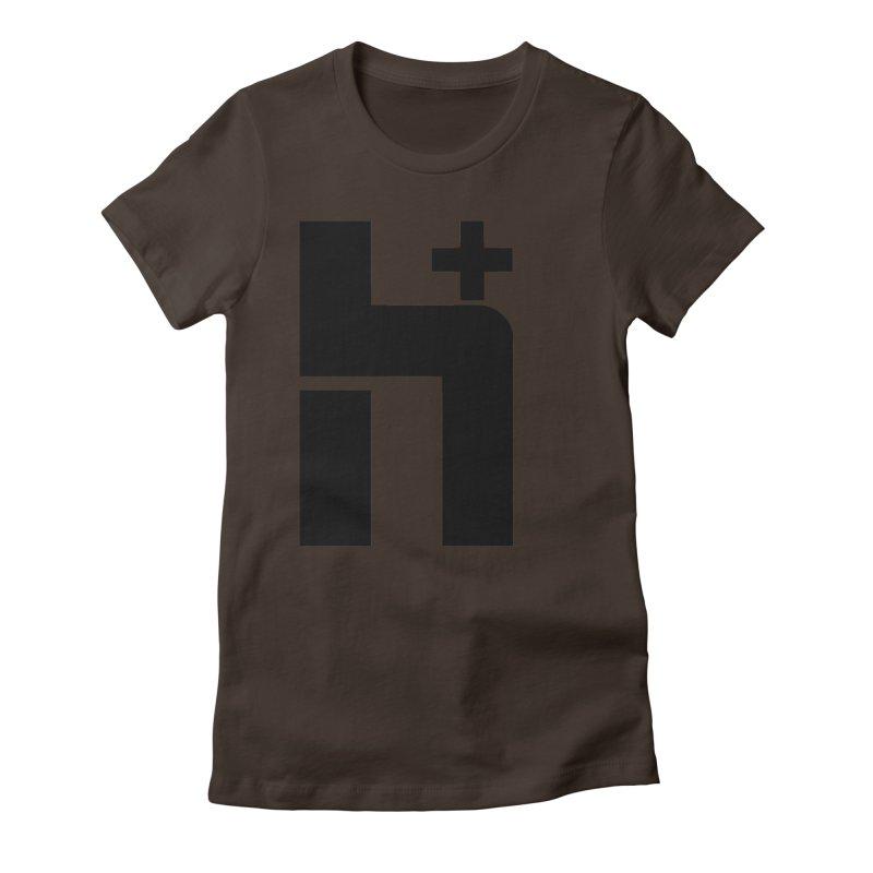 HPlus Women's Fitted T-Shirt by Transhuman Shop