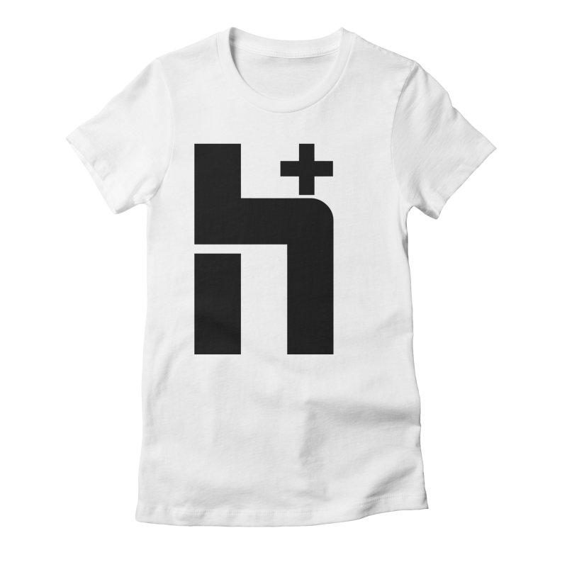 HPlus Women's Fitted T-Shirt by Transhuman Shop