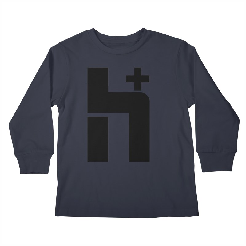 HPlus Kids Longsleeve T-Shirt by Transhuman Shop