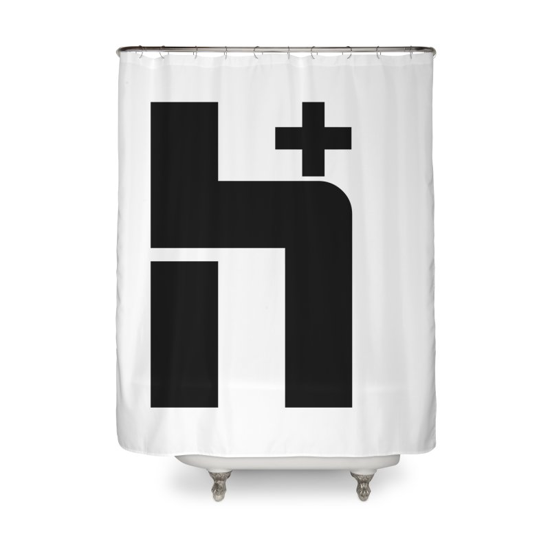 HPlus Home Shower Curtain by Transhuman Shop