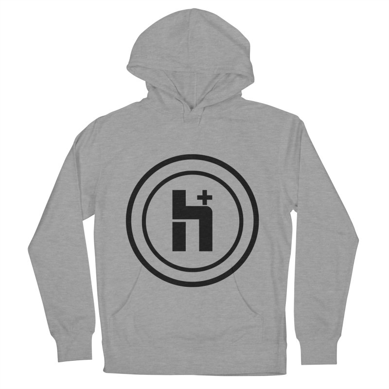 H Plus Circle 1 Women's Pullover Hoody by Transhuman Shop