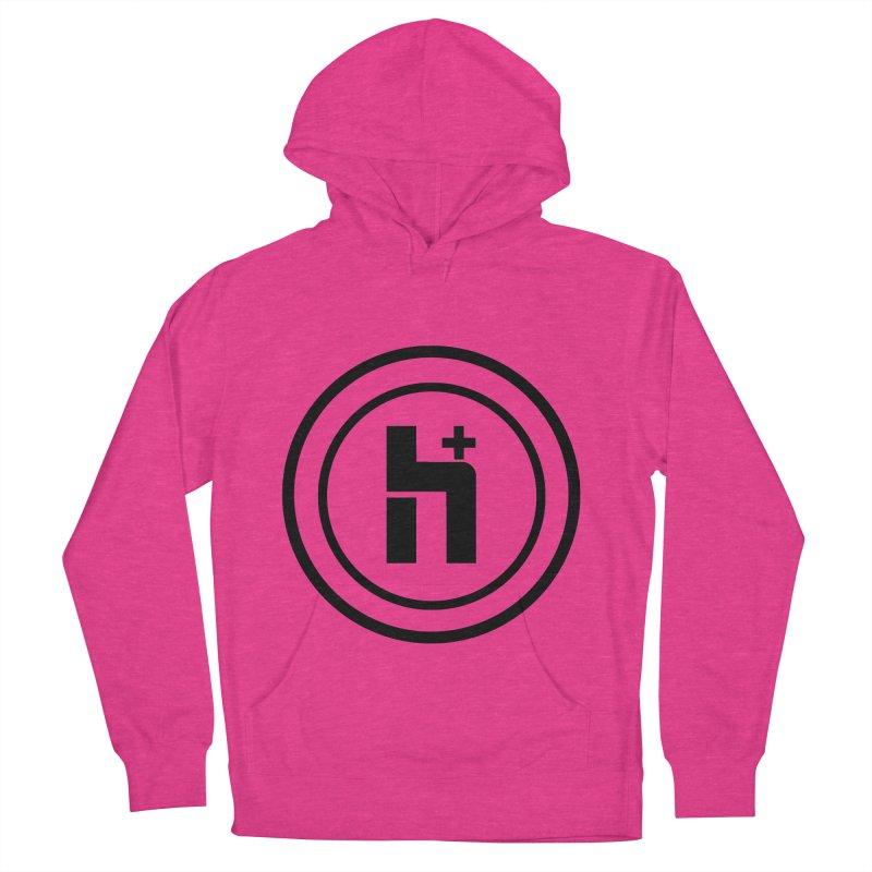 H Plus Circle 1 Women's Pullover Hoody by Transhuman Shop