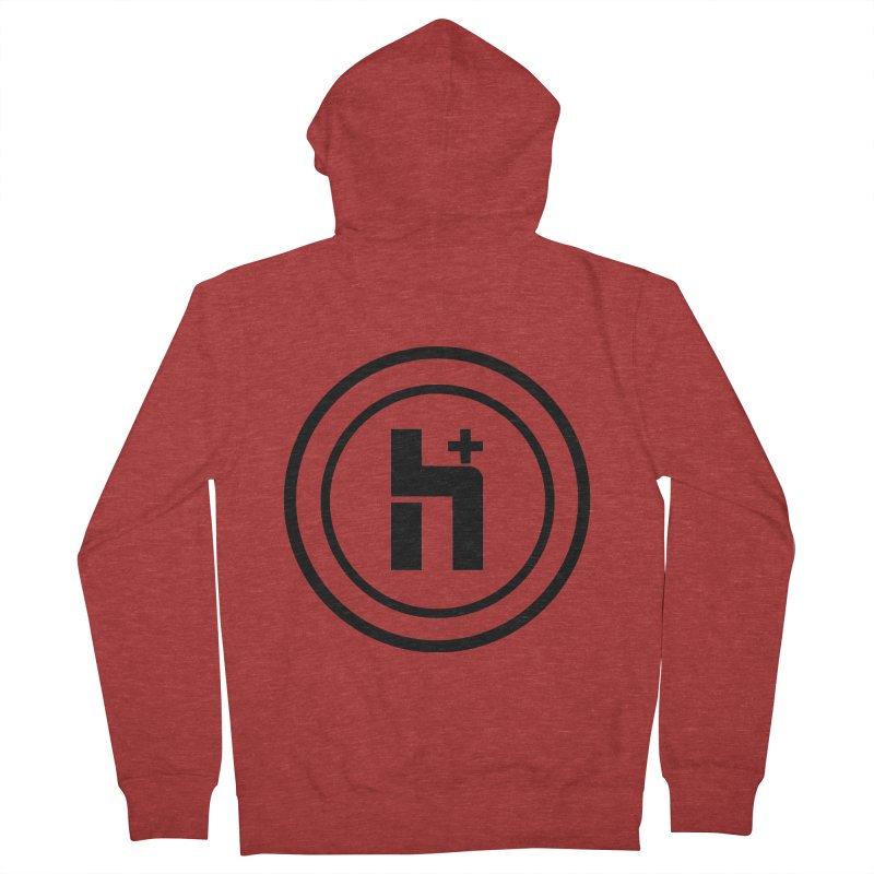 H Plus Circle 1 Women's Zip-Up Hoody by Transhuman Shop