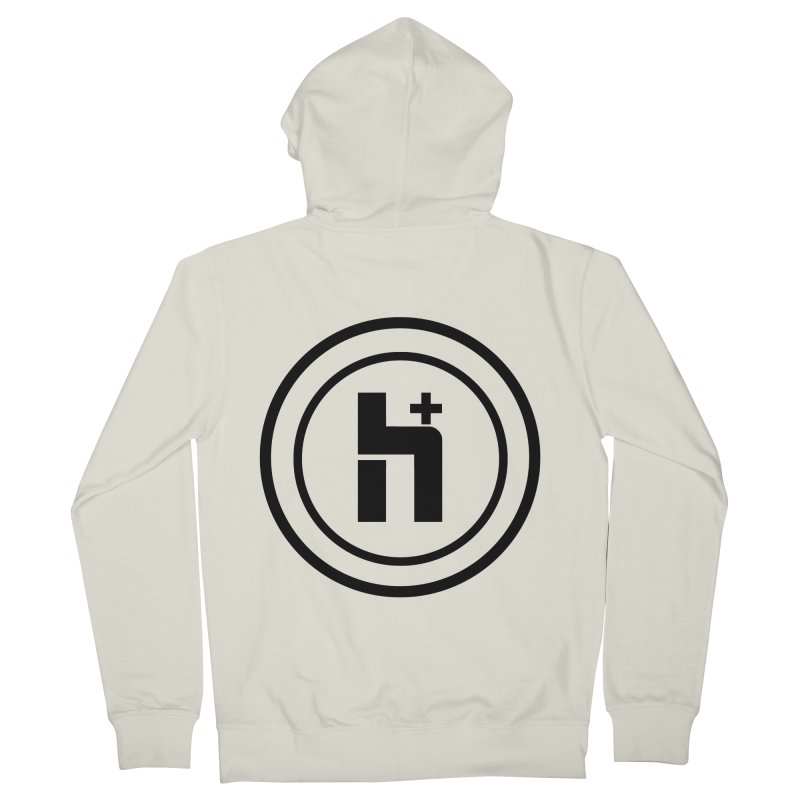 H Plus Circle 1 Men's Zip-Up Hoody by Transhuman Shop