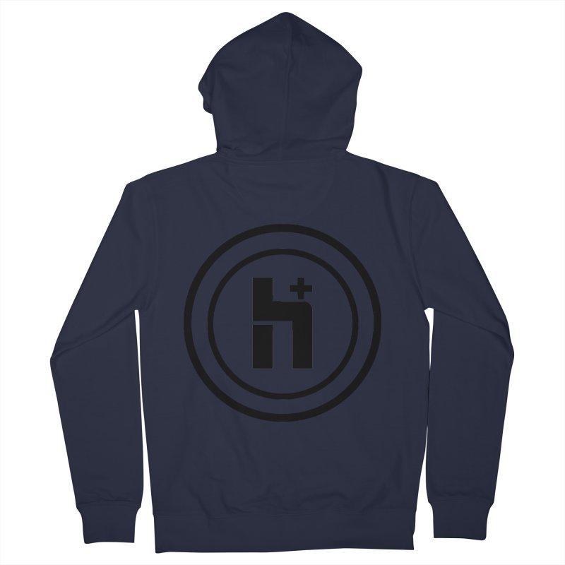 H Plus Circle 1 Men's Zip-Up Hoody by Transhuman Shop