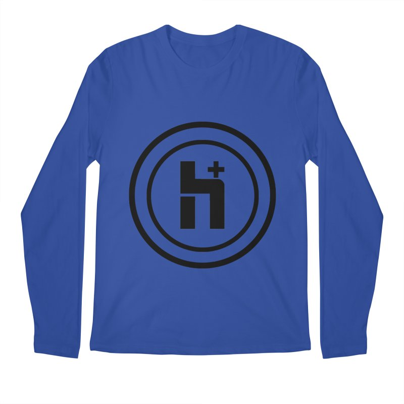 H Plus Circle 1 Men's Longsleeve T-Shirt by Transhuman Shop