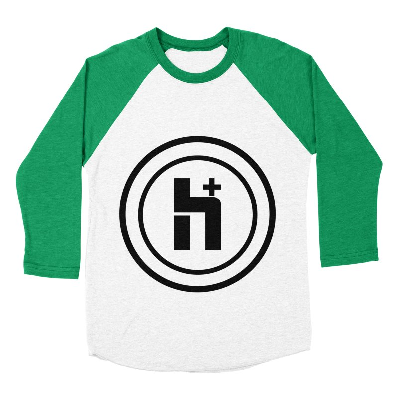 H Plus Circle 1 Men's Baseball Triblend T-Shirt by Transhuman Shop