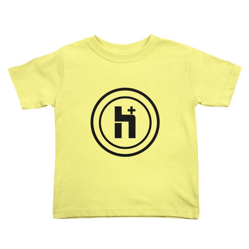 H Plus Circle 1 Kids Toddler T-Shirt by Transhuman Shop