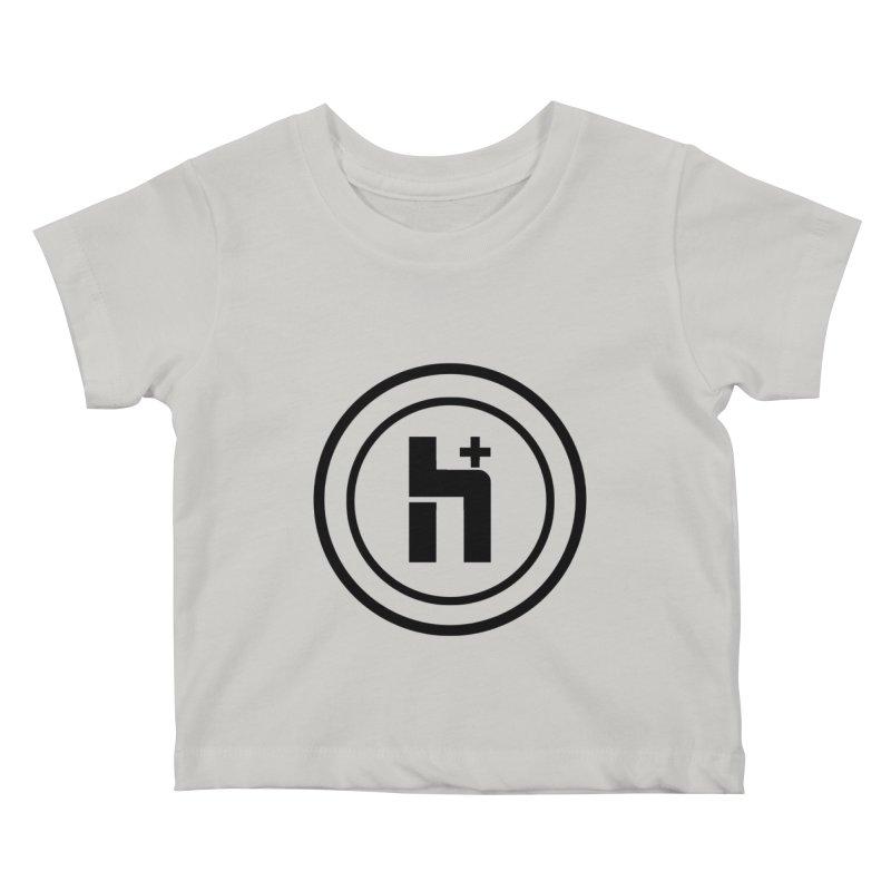 H Plus Circle 1 Kids Baby T-Shirt by Transhuman Shop