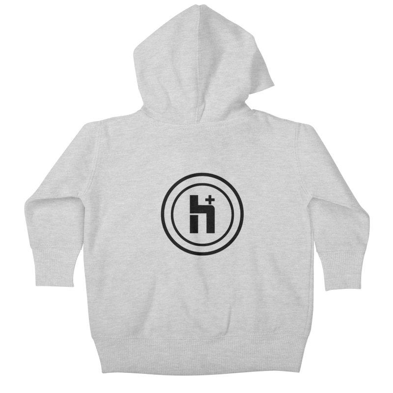 H Plus Circle 1 Kids Baby Zip-Up Hoody by Transhuman Shop