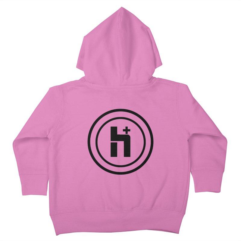 H Plus Circle 1 Kids Toddler Zip-Up Hoody by Transhuman Shop
