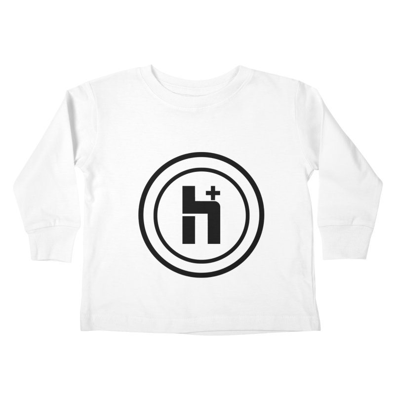 H Plus Circle 1 Kids Toddler Longsleeve T-Shirt by Transhuman Shop