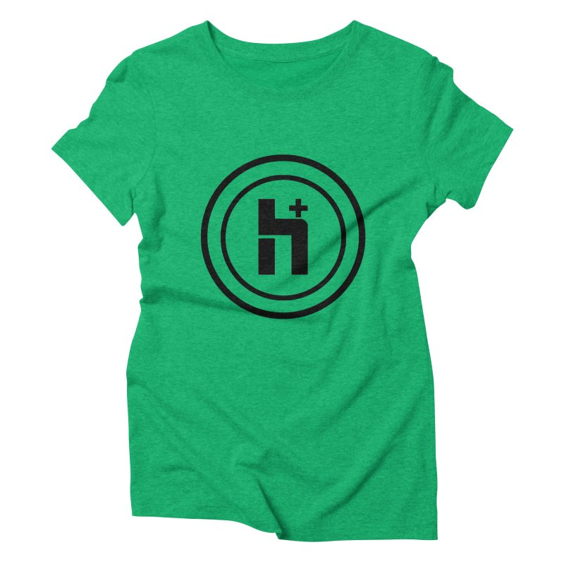 H Plus Circle 1 Women's Triblend T-shirt by Transhuman Shop