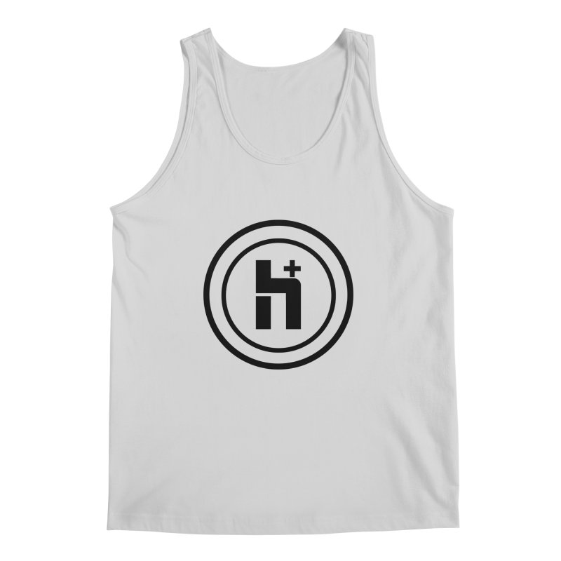 H Plus Circle 1 Men's Tank by Transhuman Shop