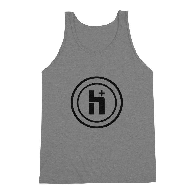 H Plus Circle 1 Men's Triblend Tank by Transhuman Shop
