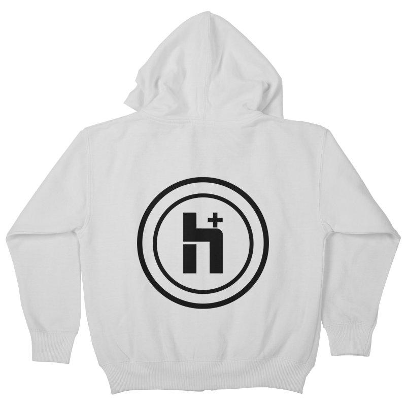 H Plus Circle 1 Kids Zip-Up Hoody by Transhuman Shop