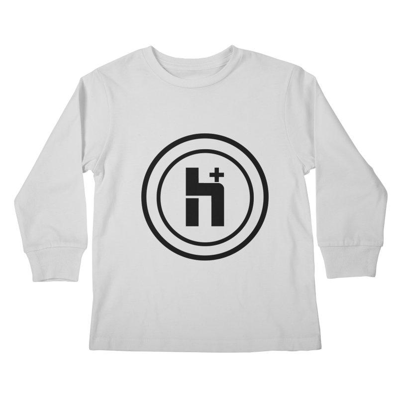 H Plus Circle 1 Kids Longsleeve T-Shirt by Transhuman Shop
