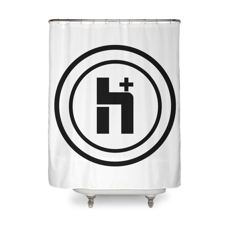 H Plus Circle 1 Home Shower Curtain by Transhuman Shop